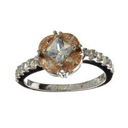 APP: 1.2k Designer Sebastian 2.04CT Swiss Cubic Zirconia And Platinum Over Sterling Silver Ring