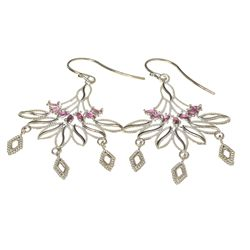 APP: 1.8k 0.82CT Marquise Cut Ruby And Sterling Silver Earrings