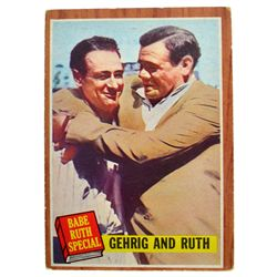 1962 Topps Babe Ruth Special LOU GEHRIG #140 VGEX