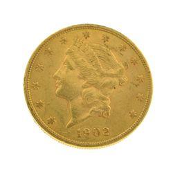 *1902-S $20 U.S. Liberty Head Gold Coin