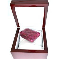 APP: 22k 628.00CT Emerald Cut Ruby Gemstone