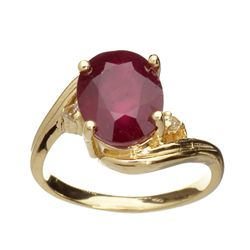APP: 4.8k 14 kt. Gold, 3.65CT Ruby And Topaz Ring