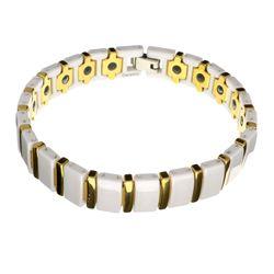 Exquisite Two-Tone Tangsten/Ceramic Bracelet