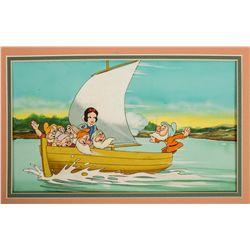 Snow White & the Seven Dwarfs Original Painting for Disneyland Magazine #154