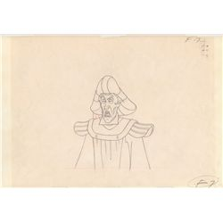 Original Production Drawing of Dom Frollo from Hunchback of Notre Dame