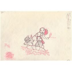 Original Production Drawing of Lilo and Stitch