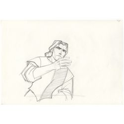 Original Production Drawing of John Smith from Pocahontas
