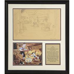 Original 1940 Walt Disney Pinocchio Concept Artwork by Frank Follmer