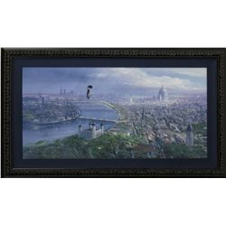 Mary Poppins over London Framed Giclée Signed by Peter Ellenshaw