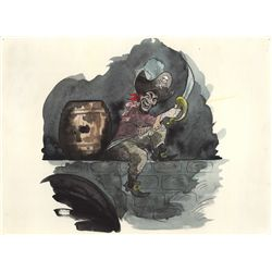 Original Watercolor Concept Art from Pirates of the Caribbean Attraction