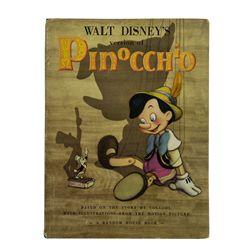 Walt Disney Signed Pinocchio Book