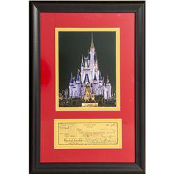 Original 1951 Walt Disney Signed Check