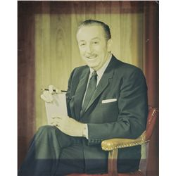 Vintage 1960s Walt Disney Gallery Portrait Given to Marvin Davis
