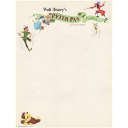 Vintage 1953 Walt Disney Peter Pan Letterhead
