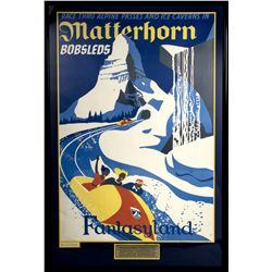 Disneyland Matterhorn Attraction Poster Print