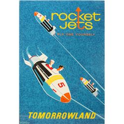 Vintage Disneyland Rocket Jets Attraction Poster