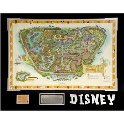 Vintage 1958c Disneyland Map with B Ticket