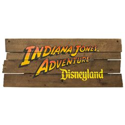 Disneyland Indiana Jones Adventure Theme Park Attraction Sign
