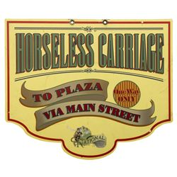 Original Disneyland Main Street Horseless Carriage Sign