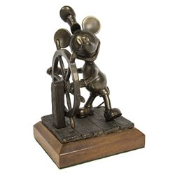 Mickey Mouse Steamboat Willie Bronze Sculpture
