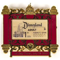 Original 2005 Limited Edition Disneyland First Day Ticket Pin