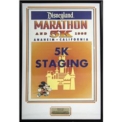 Original 1995 Disneyland Marathon and 5K Sign
