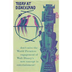 Vintage Disneyland Tiki Room Opening Day Brochure