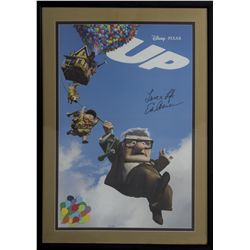 Original Ed Asner Signed Pixar's Up poster