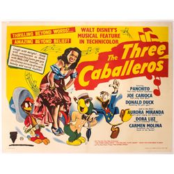 The Three Caballeros British Quad Poster