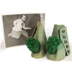 Original Bing Crosby Clown Ankle Covers Used by Disney's Mickey Mouse Club Circus Clown Bob-O