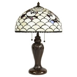 Disney Mickey & Minnie Mouse Lamp in the style of Tiffany Studios