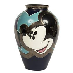 Elisabete Gomes Signed Mickey Mouse Collectors Art Vase