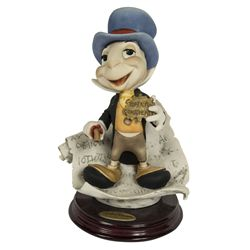 Giuseppe Armani Jiminy Cricket Bisque Statue Signed by Eddie Carroll