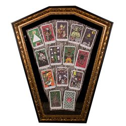 Complete Set of The Nightmare Before Christmas Tarot Cards from 2003 Haunted Mansion Holiday Event