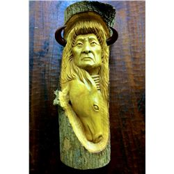 Handmade wood carving By Paul Hornbuckle ?(could not make out last name)