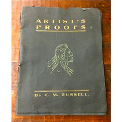 C. M. Russell artists proofs booklet