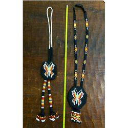 Beaded necklace and matching bolo tie