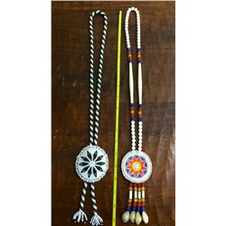 Pair of Native American beaded necklaces