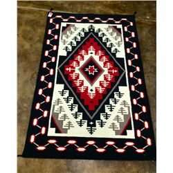 Large Southwestern wool handmade rug