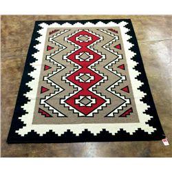 Very large Southwestern wool handmade rug