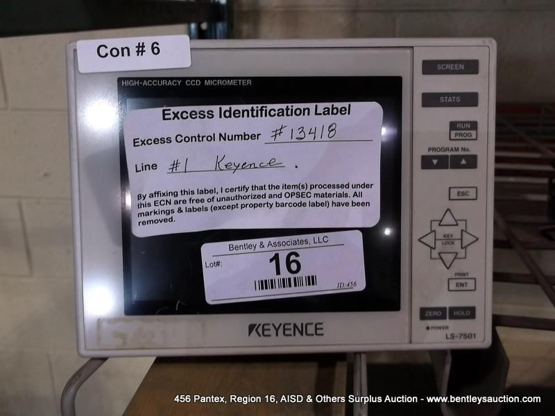 KEYENCE LS-7501 ACCURACY CLD MICROMETER