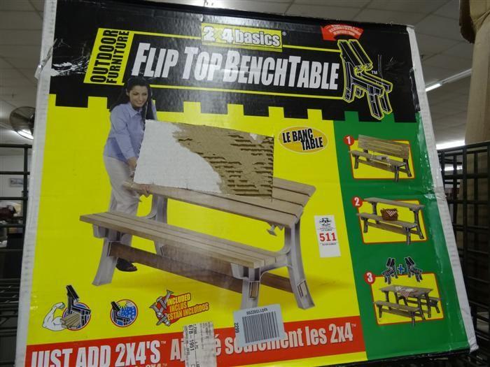 Flip Top Bench Table