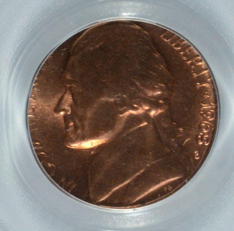1968-S Jefferson Nickel PCGS MS-65 (Mint Error-Struck on a Penny Planchet)