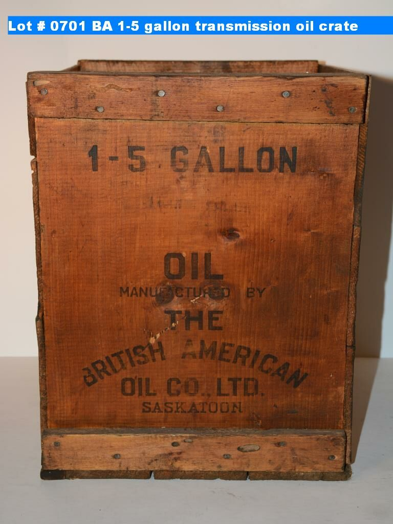BA 1-5 gallon transmission oil crate