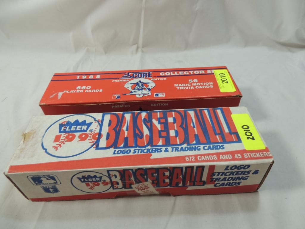 1990 Fleer 1988 Score Baseball Player Cards