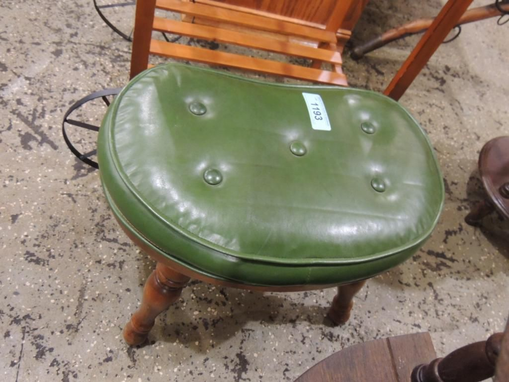 Superb Small Green Leather Foot Stool Squirreltailoven Fun Painted Chair Ideas Images Squirreltailovenorg