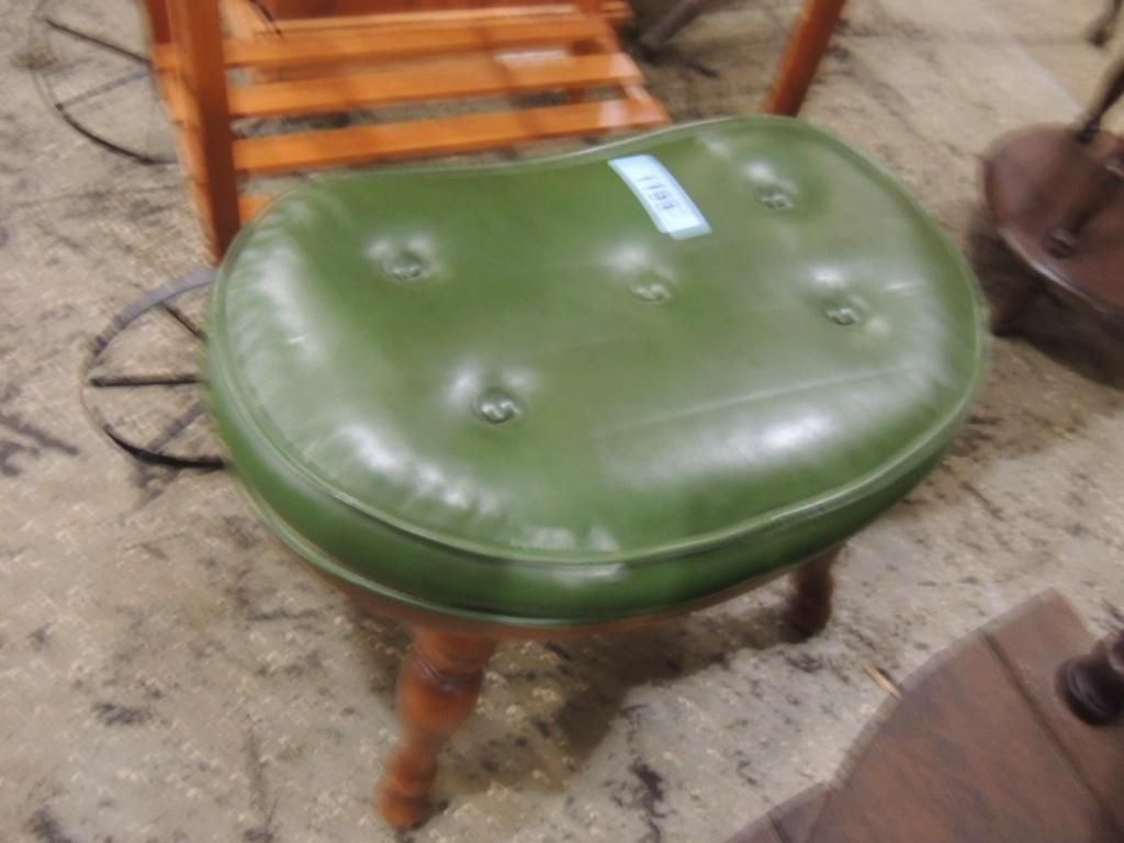 Amazing Small Green Leather Foot Stool Squirreltailoven Fun Painted Chair Ideas Images Squirreltailovenorg