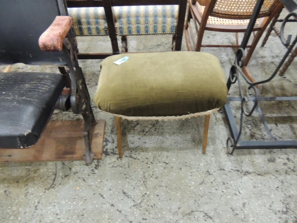 Excellent Small Padded Olive Green Foot Stool Squirreltailoven Fun Painted Chair Ideas Images Squirreltailovenorg