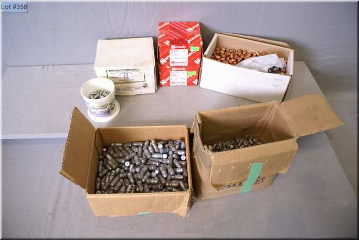 Box Lot : Mostly Lead Bullets [ 2 boxes Hornady  44 cal - part box  9
