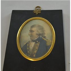 19th century miniature portrait of a naval officer,